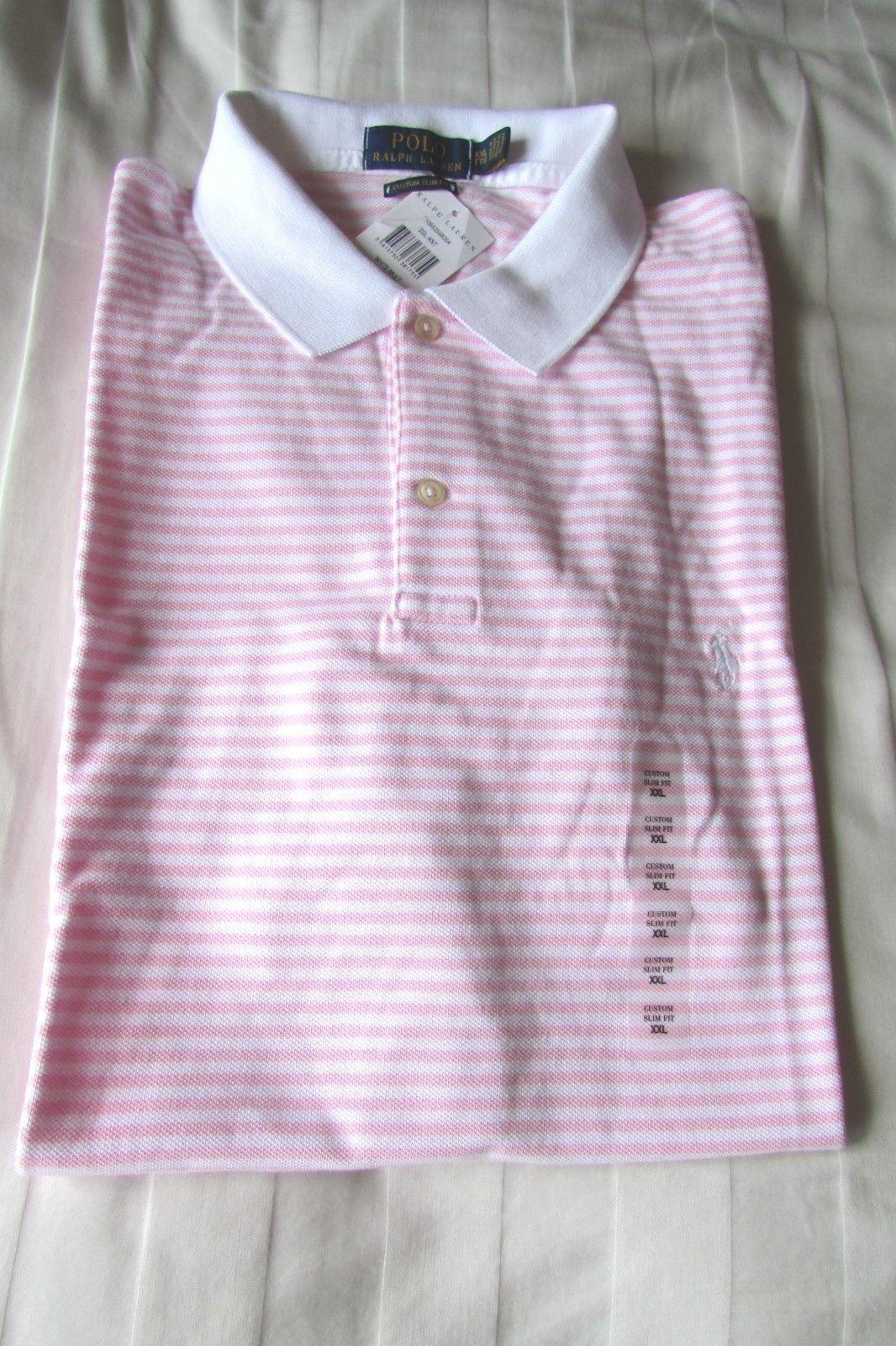 POLO RALPH LAUREN UOMO Custom Fit T Shirt Taglia XXL XXL XXL rosa Nuovo con etichette RRP 64427a