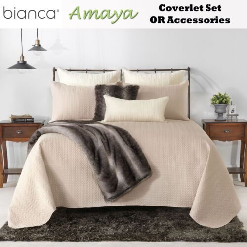Amaya Mink Embroidered Coverlet with Pillowcase OR Accessories by Bianca s