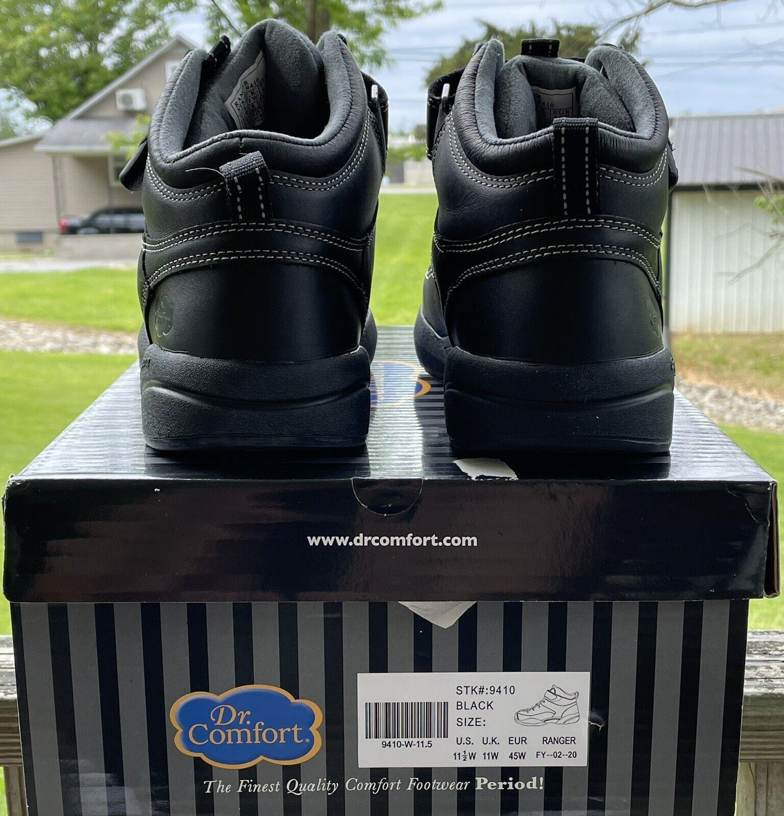 Dr. Comfort Ranger Men's Therapeutic Diabetic Hiking Boot Black 11.5 W.*NEW/BOX*