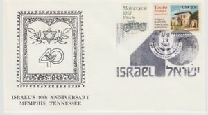 US-Commemorative-Cover-of-Israel-039-s-40th-Anniversary-Philatelic-Cover-Stamps-1988