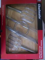 Chefmate 6pc. Stainless Steel Carving Set With Cutting Board