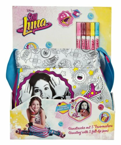"""5 Fasermaler create your own Handtasche /& Shopping Bag by Disney´s /""""Soy LUNA/"""""""