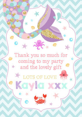 Personalised Mermaid Childrens Birthday