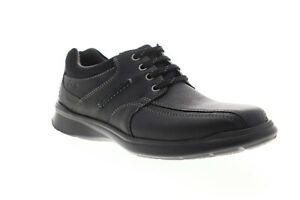 clarks cotrell walk 26119725 mens black leather casual
