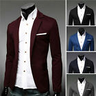 Men Fashion Stylish Casual Slim Formal One Button Suit Blazer Coat Jacket Tops