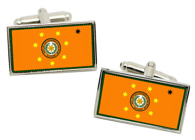 Select Gifts Pair Tiger Eye Cufflinks Optional Engraved Personalised Box