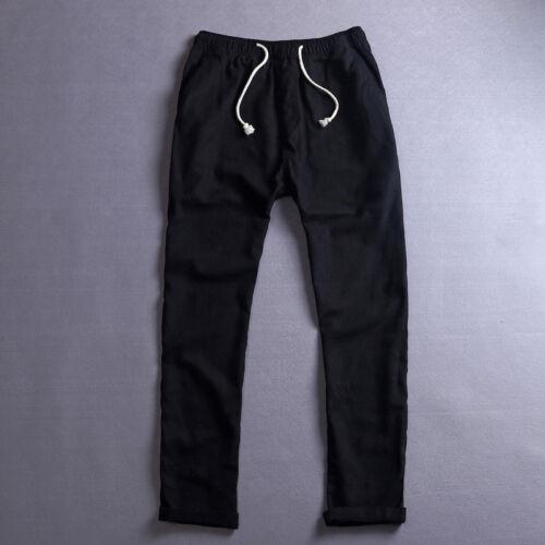 Été Lin Mince Pantalon Casual//Travel Men/'s Beach corde cravate avec cordon de serrage Pantalon