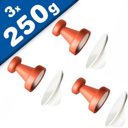 3 x Starke Magnethaken mit sk// Metallscheiben 8 Farben Ø 2,5 cm hält 250g