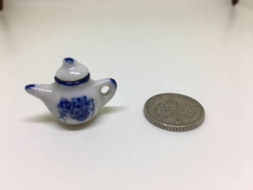 1:12th//1:16th Escala Casa de muñecas en miniatura modelado China Tetera Con Tapa #1