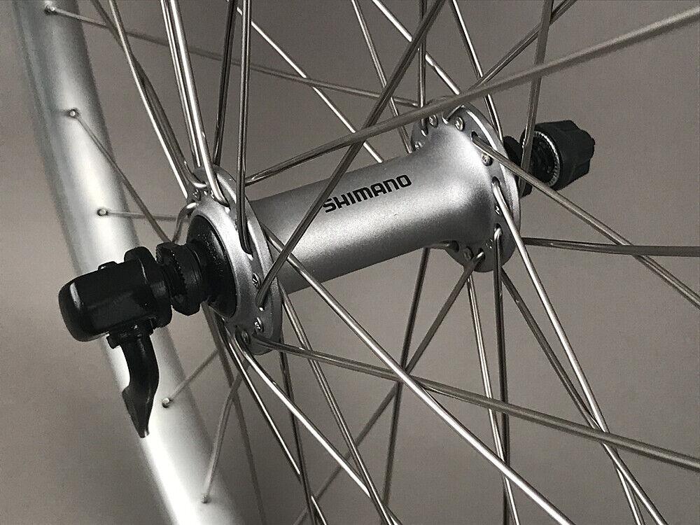 Image 5 - Silver-Heavy-Duty-Velocity-Cliffhanger-29-034-700c-MTB-Bike-Tubeless-Wheels-Shimano