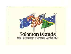 SOLOMON-ISLANDS-1984-OLYMPICS-BOOKLET-AND-STAMPS-SCOTT-530-534-MNH-FREE-SHIP