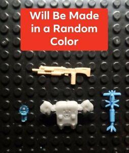 Custom Cast Random Color Weapons set of 4 Compatible with OG Halo Mega Construx