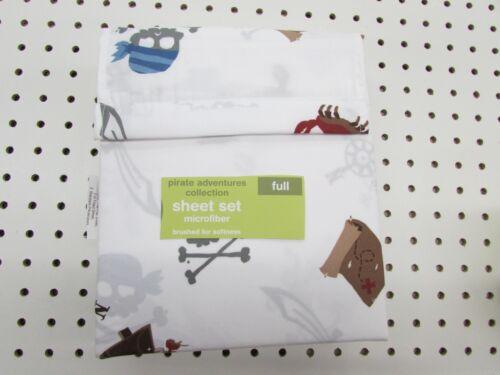 Full Size Sheet Set Pirate Adventure Design Microfiber