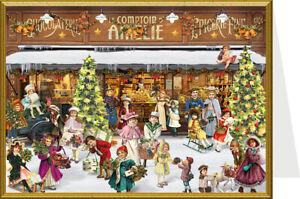 Nostalgische Weihnachtskarten Kostenlos.Details Zu Nostalgische Weihnachtskarte Schaufenster Doppelkarte Mit Umschlag