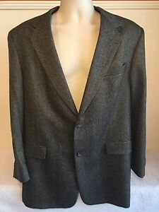 Mens Austin Reed Sport Tweed Blazer 44r Dillards 2 Button Jacket Elbow Patches Ebay