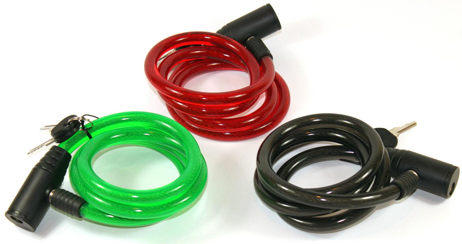Spiralschloss bicicleta castillo 6 unidades cable con con con candado acero castillo castillo rueda 506 e00319