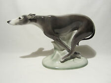 ANCIENNE STATUE PORCELAINE ART DECO WILLIAM GOEBEL HUMMEL CHIEN DOG LEVRIER 1935