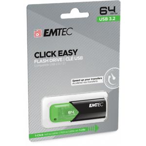 Clef USB 64 Go Emtec cle USB 64Go USB Flash Drive Click Easy USB 3.2 clé USB 64