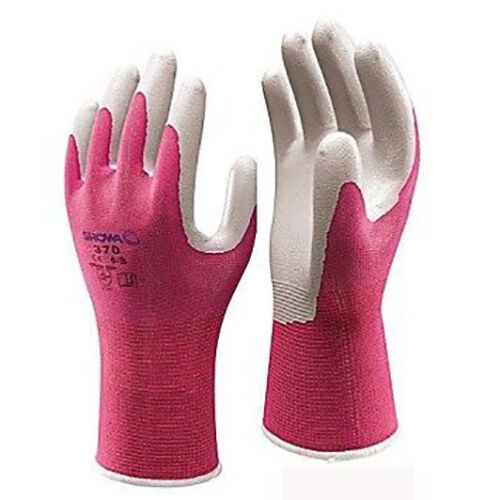 1 x Pair Showa 370 FLOREO Lightweight Gardening Gloves Ladies Womens Pink Green