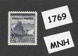 1769-MNH-1939-Overprint-stamp-2-50-KR-BaM-Protectorate-Third-Reich-occupation