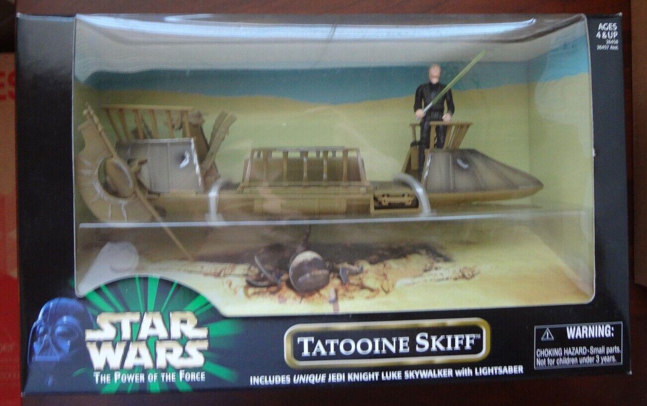 Star Wars Power of the Force Tatooine Skiff With Jedi Luke Hasbro Sealed 1999