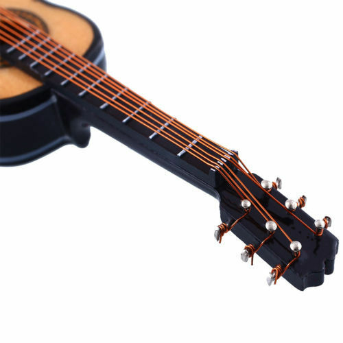 1//12 Musical Instrument Dollhouse Miniature Mini Guitar Music Figure Boxed Gift