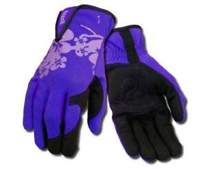 Ansell-97-980-Mesdames-Femmes-Premium-syn-paume-en-cuir-jardinage-travail-Gant-Violet