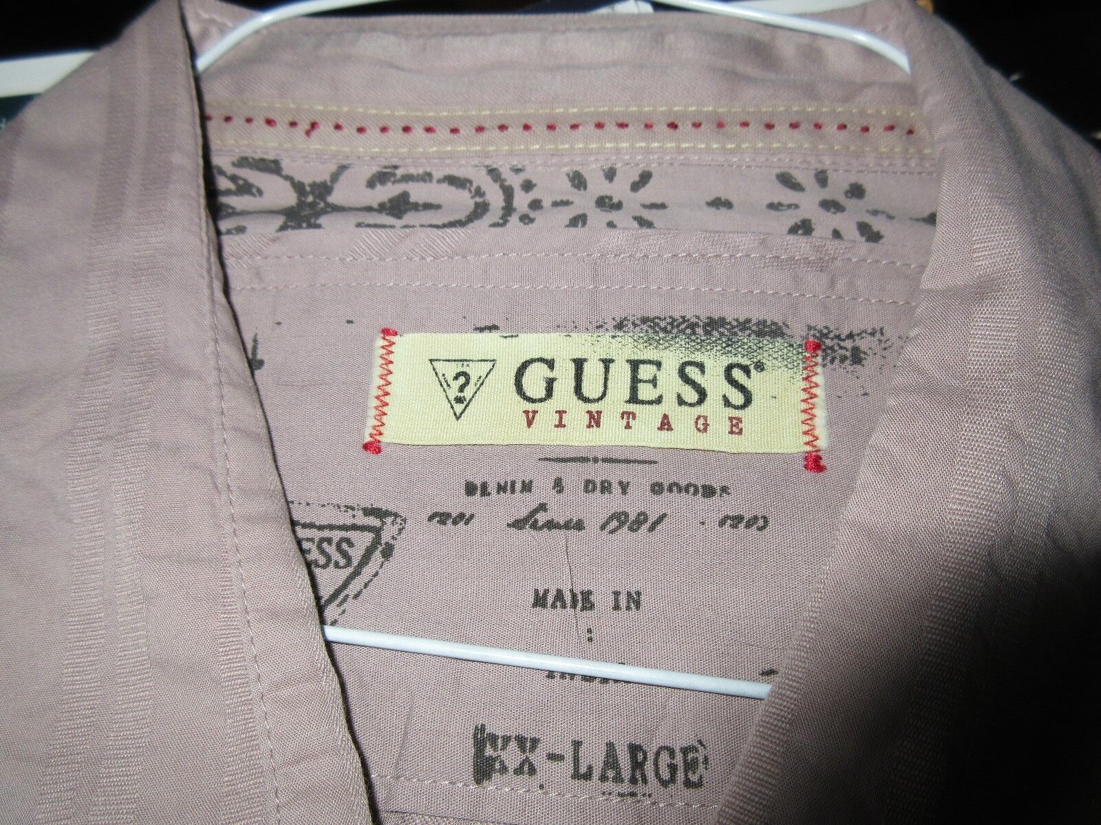 Guess , Men's Long Sleeve Shirt , XX-Large , 100% Cotto