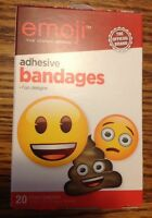 Nip Emoji Adhesive Bandages 20-count Assorted Strips Band Aids Free Shipping