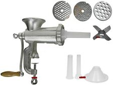 Heavy Duty Cast Iron Hand Mincer Meat Machine 2in1 SAUSAGE MAKER 10""