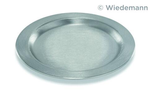 Kerzen Wiedemann GmbH Metall Teller Ø11cm Farbe Silber Metallteller Dekoteller