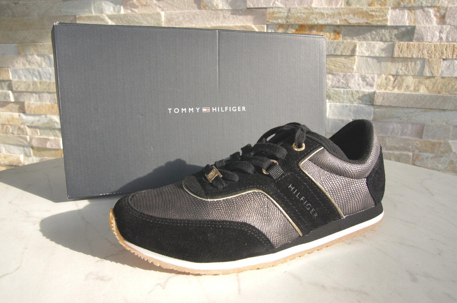 Tommy HILFIGER 36 scarpe da ginnastica normalissime scarpe Siviglia nero nuovo ex UVP | Primo gruppo di clienti  | Sig/Sig Ra Scarpa