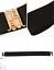 thumbnail 6 - Women Wide Elastic Stretch Waist Belt Gold Bucket Black Belt Wide Waist Belt