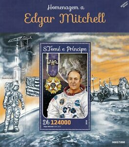 Nasa Astronaute Edgar Mitchell Apollo 14 Moon Landing Space Stamp Sheet #2 (2016)-afficher Le Titre D'origine DernièRe Technologie