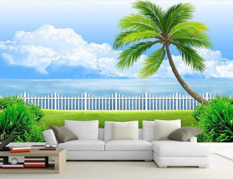 3D greenland, geländer, Baum 8 Fototapeten Wandbild Fototapete BildTapete Familie