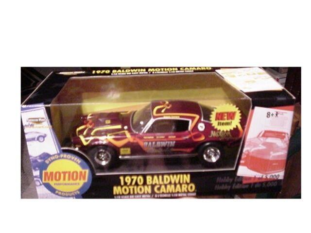 1970 Chevy Baldwin Motion Camaro Burgundy 1 18 Ertl American Muscle 33379