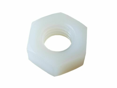 10 x Hex Bolt and Nut Plastic M8 40mm White