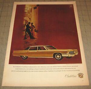 "1969 Gold Tone CADILLAC 10.5"" x 14"" Life Magazine 1-Page Ad - GM"