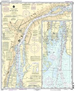 NOAA Chart Detroit River 58th Edition 14848