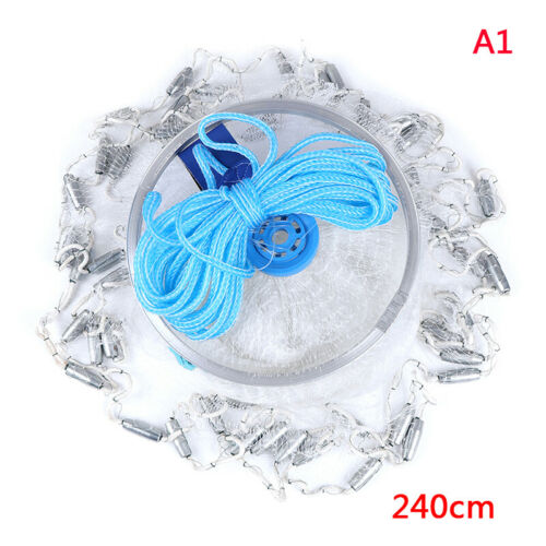 Magic Fishing Net Finefish Aluminum Ring Catch Fish Network UK