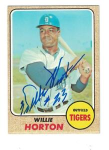 Details About Willie Horton Autograph 1968 Topps Baseball Card Signed Detroit Tigers Ex Mint