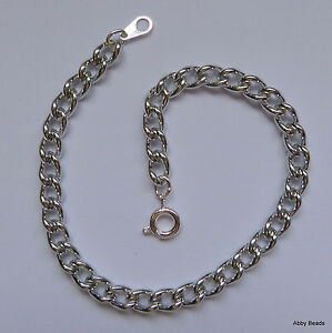"""Charm Bracelet with toggle clasp 7 1//2/""""  Silver plated x 1"""