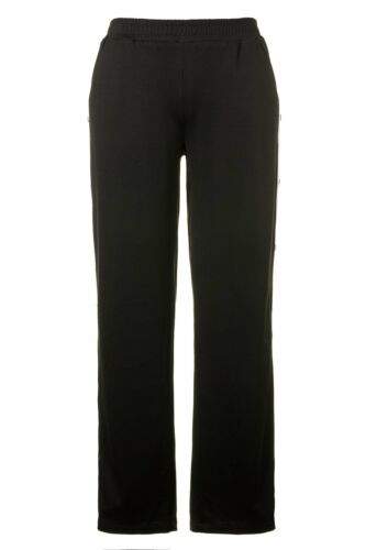 ULLA POPKEN FASHION weite Punto Hose mit Druckknöpfen ROSE schwarz NEU