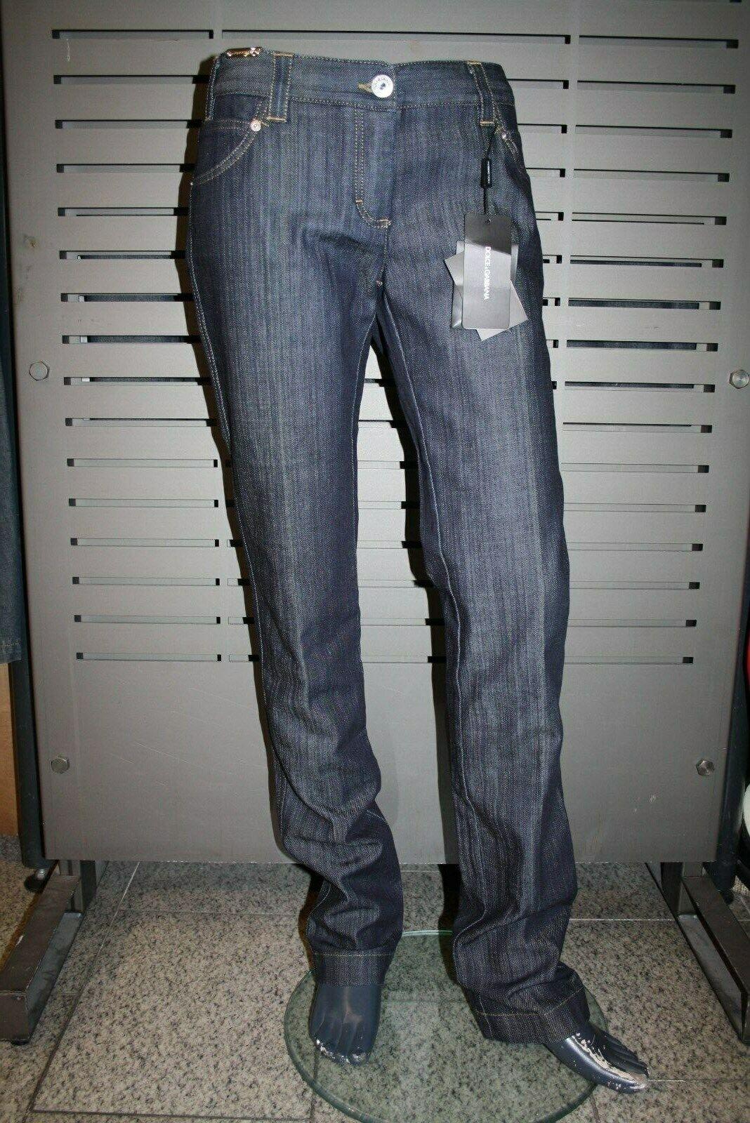 Dolce & Gabbana Damen Jeans Hose dark Blau blau neu neu neu schwarz label Made in  e1218f