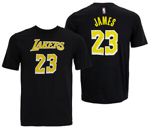 sports shoes b4866 ca21a Details about NBA Youth Los Angeles Lakers Lebron James #23 Player Tee  Shirt, Black