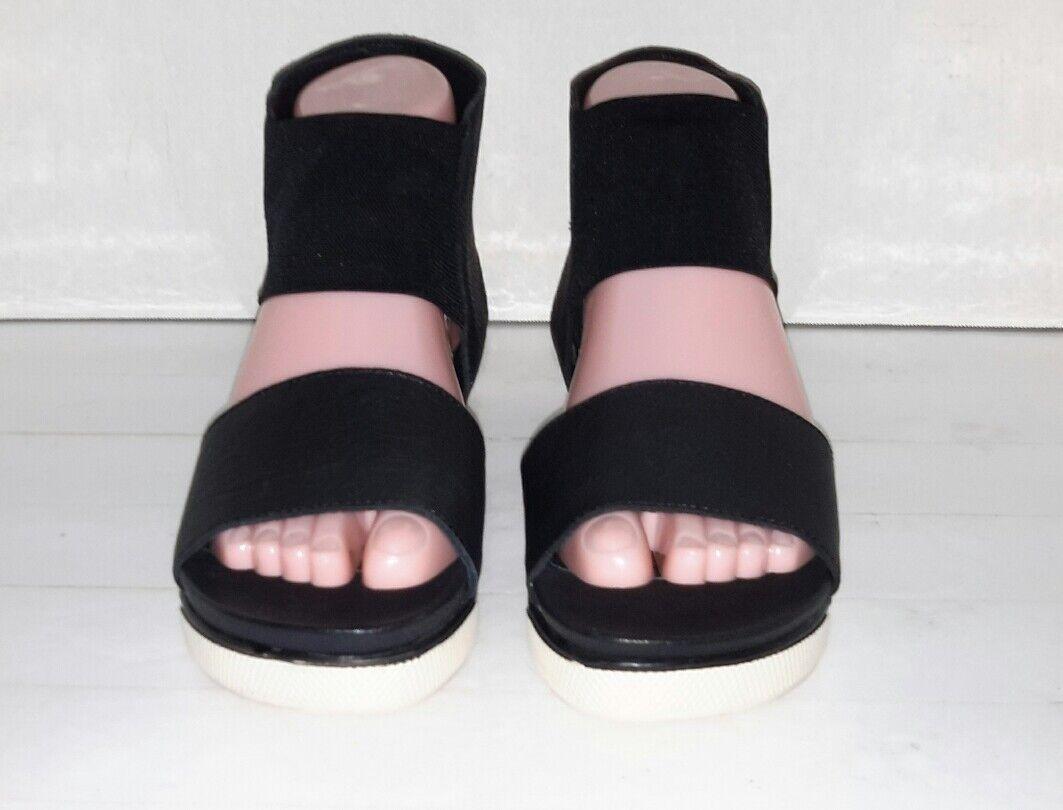 Eileen Fisher  Sport Platform Leather Sandals Size 6.5