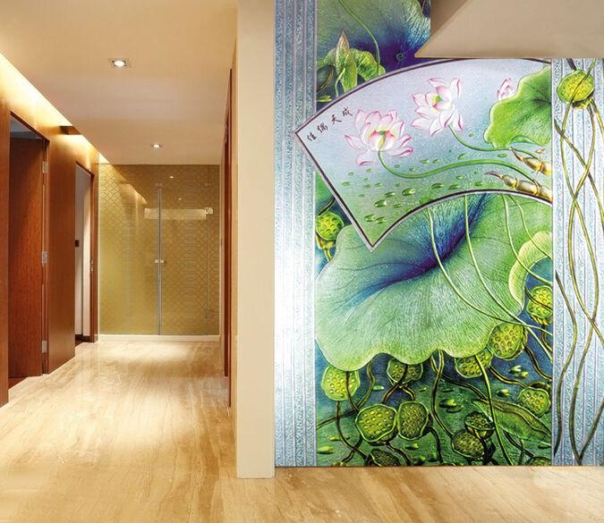 3D Classical lotus 1 WallPaper Murals Wall Print Decal Wall Deco AJ WALLPAPER