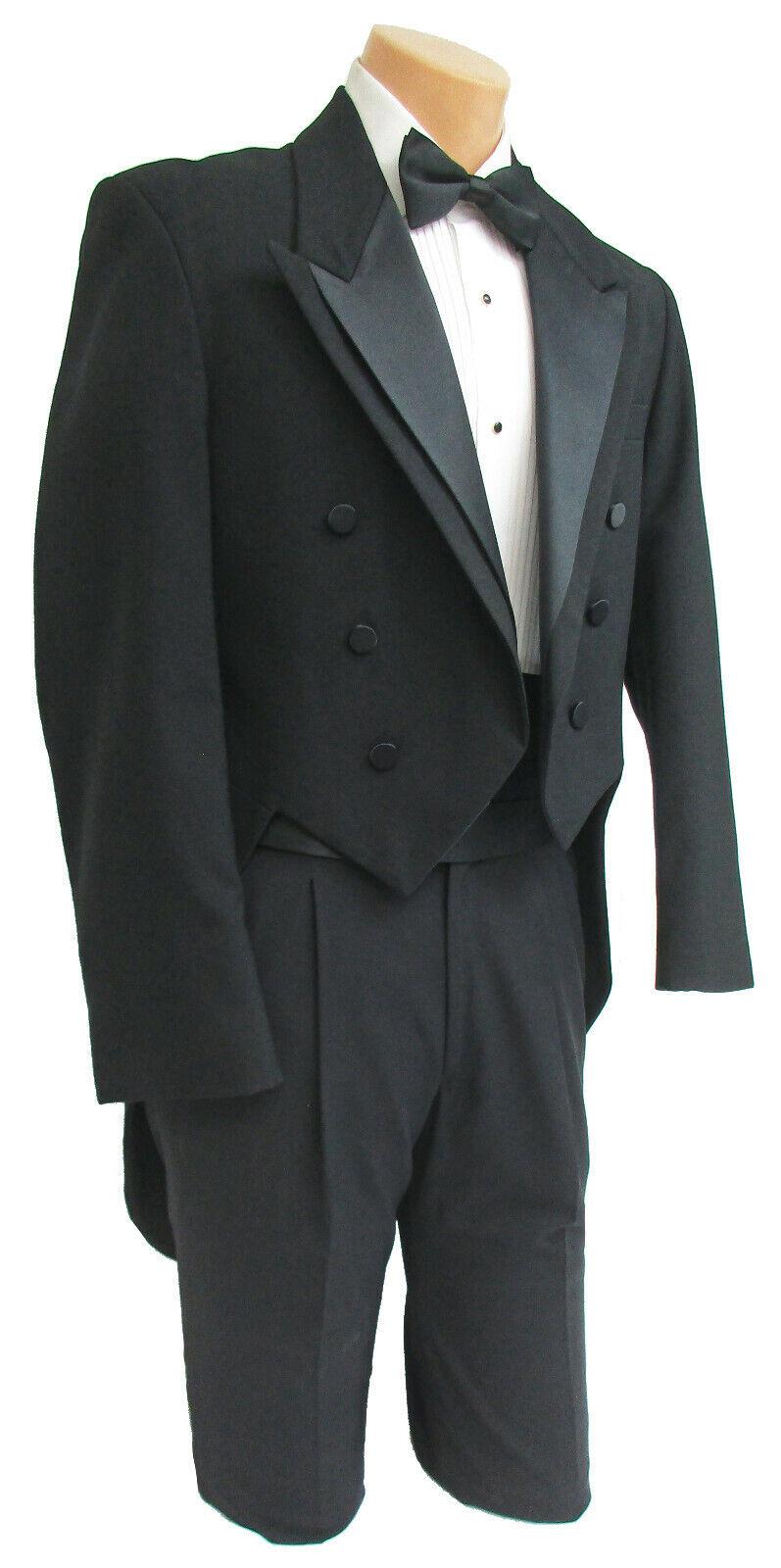 Men's Oscar de la Renta Tuxedo Tailcoat Formal Wedding Mardi Gras Long Tails 37R