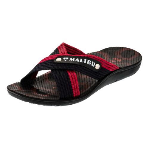 Herren Malibu Strandschuhe Sandalen Latschen Freizeit Hausschuhe Bade Clogs