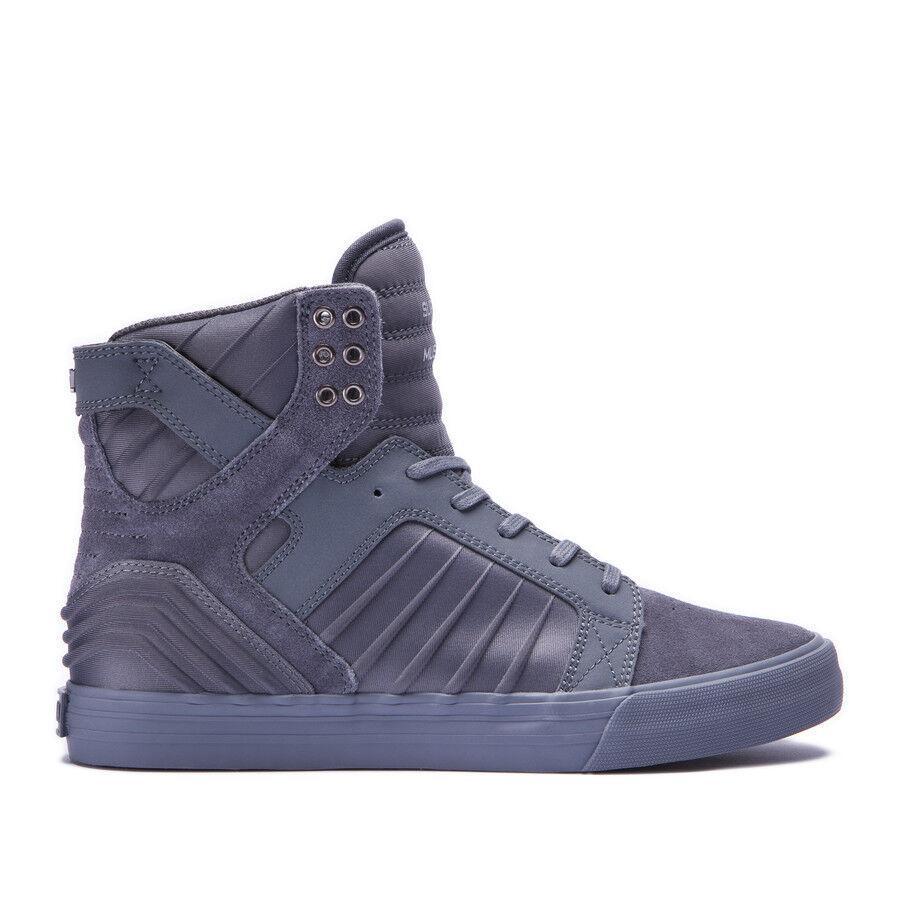 Supra Skytop EVO Chad Muska Suede/Lycra Skateboard Grey/Grey NIB 08030-014 Scarpe classiche da uomo